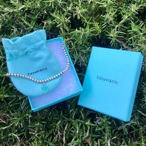 Tiffany & Co. Blue Heart Bead Bracelet